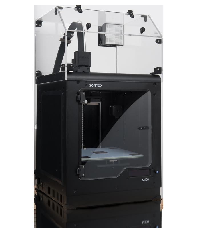 Capot de protection pour imprimante 3D zortrax M200